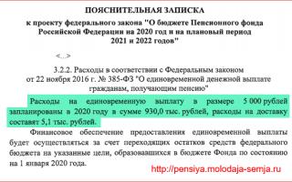 Возврат 5000 рублевой надбавки к пенсии после смерти 30 декабря